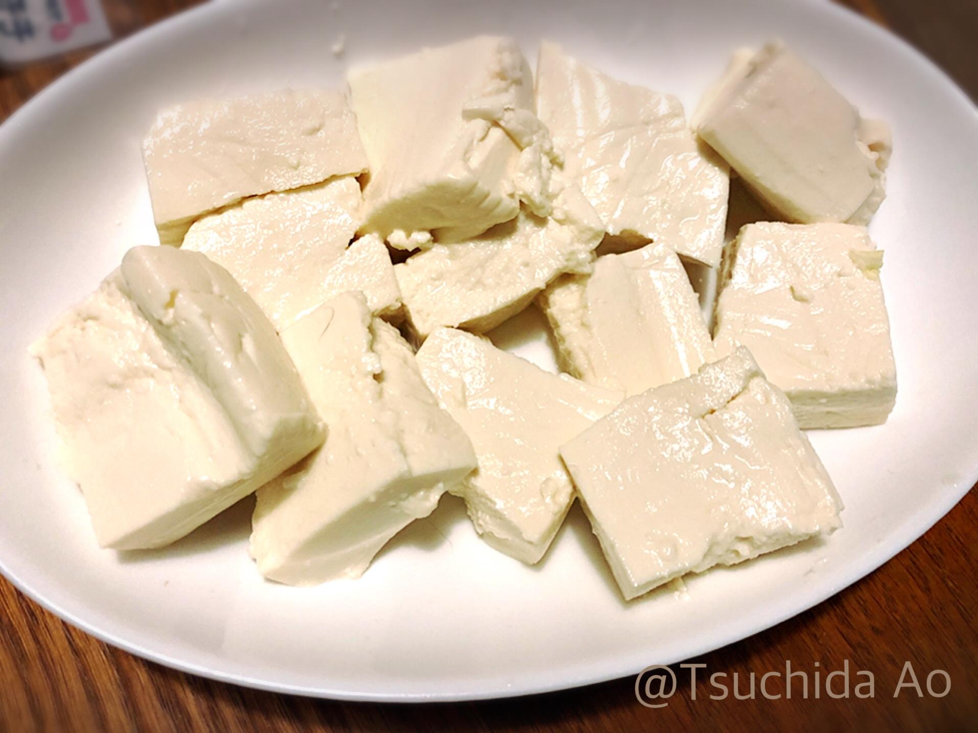 アイラップで簡単に!豆腐の塩漬け