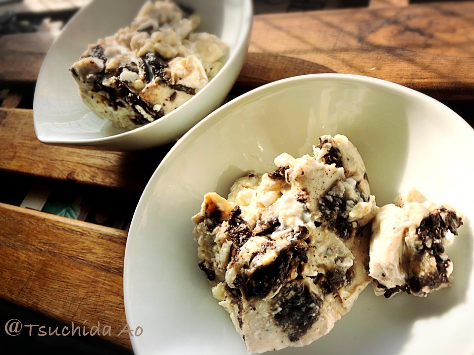 アイラップ×スイーツ〜罪悪感の少ない、クッキーアンドクリームアイス〜