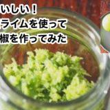意外においしい!淡路島産ライムを使ってライム胡椒を作ってみた